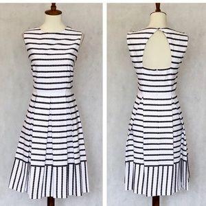 Liz Claiborne White Cotton Open Back Dress